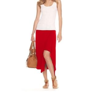Michael Kors red cascade skirt. Small